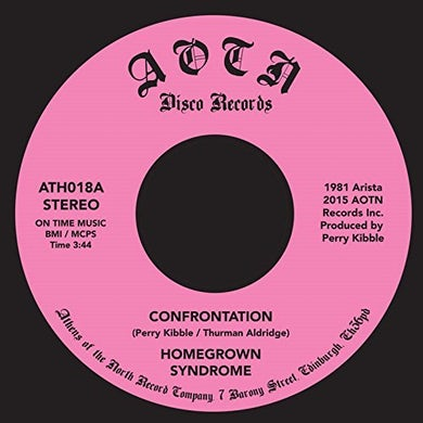 HOMEGROWN SYNDROME CONFRONTATION Vinyl Record