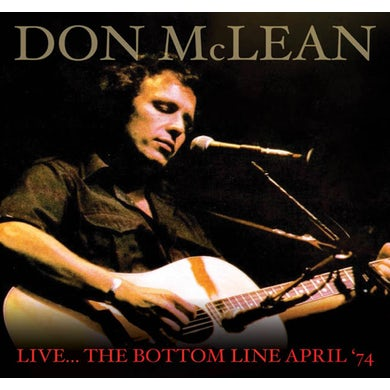 Don Mclean LIVE THE BOTTOM LIVE APRIL '74 CD