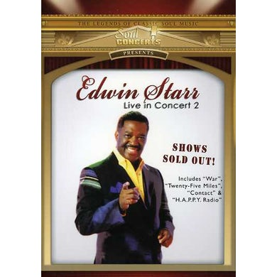 Edwin Starr LIVE IN CONCERT DVD