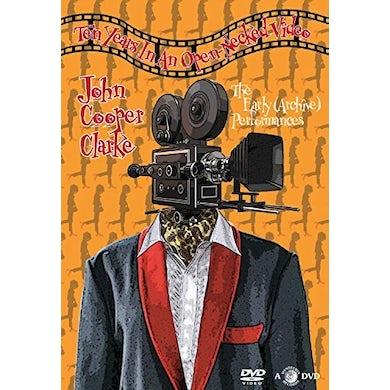 John Cooper Clarke TEN YEARS IN AN OPEN NECKED VIDEO DVD