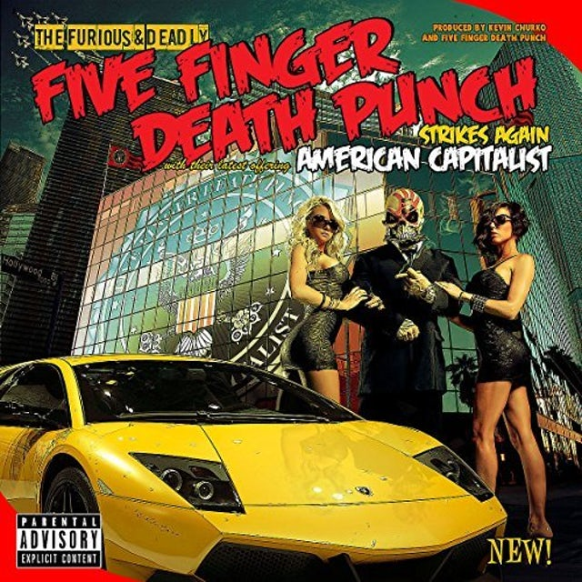Five Finger Death Punch AMERICAN CAPITALIST (SWAMP GREEN COLOURED VINYL) Vinyl Record