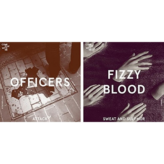 OFFICERS / FIZZY BLOOD ATTACK/SWEAT & SULPHUR (SPLIT 7-INCH) Vinyl Record