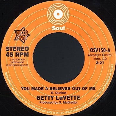 Bettye Lavette  YOU MADE A BELIEVER OUT OF ME / THANK YOU FOR Vinyl Record