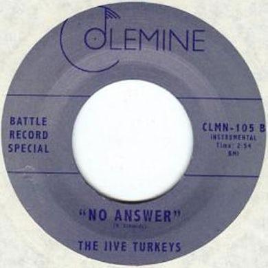 JIVE TURKEYS / NO ANSWER Vinyl Record