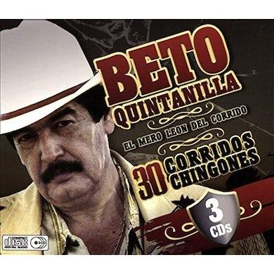 Beto Quintanilla 30 CORRIDOS CD