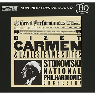 Leopold Stokowski BIZET: CARMEN & L'ARLESIENNE SUITES (UHQCD) CD