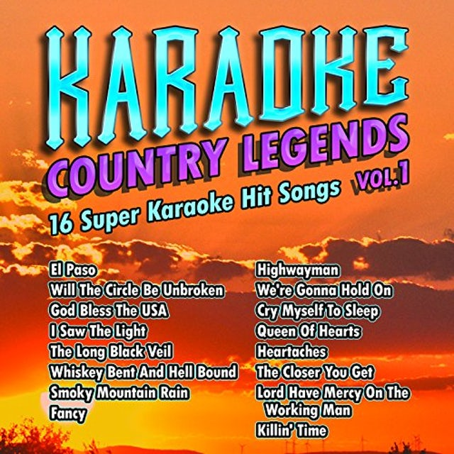 Karaoke Cloud COUNTRY LEGENDS 1 CD