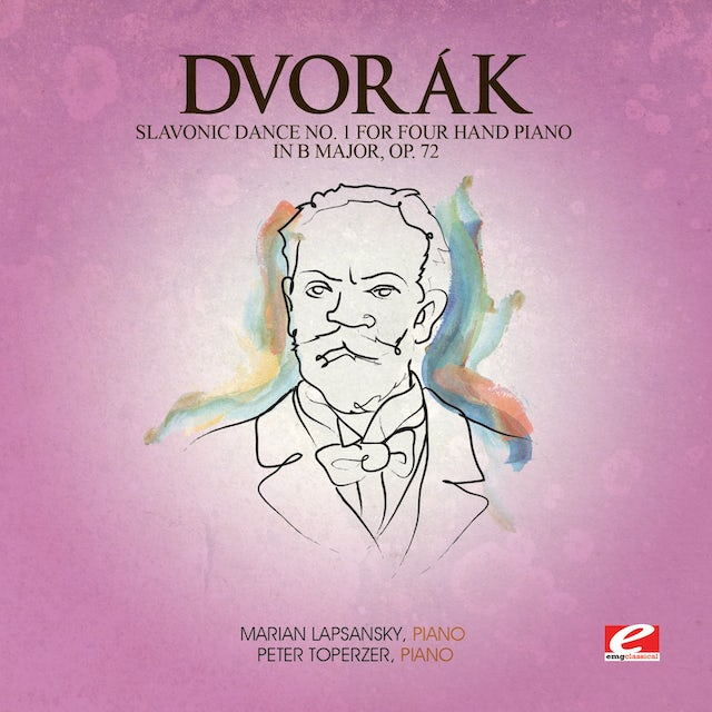 Dvorak SLAVONIC DANCE 1 FOUR HAND PIANO B MAJ 72 CD