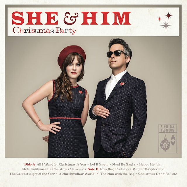 She & Him CHRISTMAS PARTY Vinyl Record