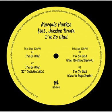 Marquis Hawkes I'M SO GLAD Vinyl Record