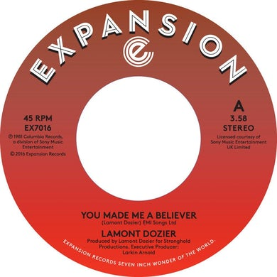 Lamont Dozier YOU MADE ME A BELIEVER / STARTING OVER (WE'VE MADE Vinyl Record