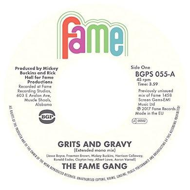 Fame Gang GRITS & GRAVY (FULL LENGTH MONO) / CRIME DON'T Vinyl Record