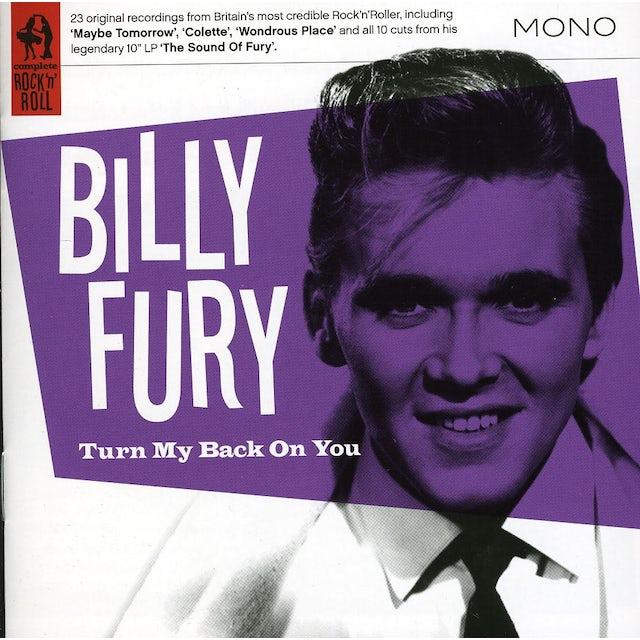Billy Fury TURN MY BACK ON YOU CD