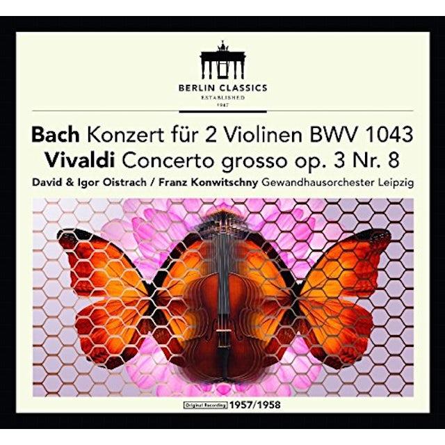 J.S. Bach / Franck / Oistrach / Konwitschny BACH & VIVALDI: VIOLIN CONCERTOS CD