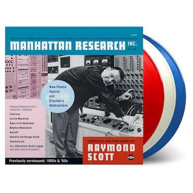 Raymond Scott MANHATTAN RESEARCH INC. - Limited Edition 180 Gram Red, White & Blue Triple Vinyl Record