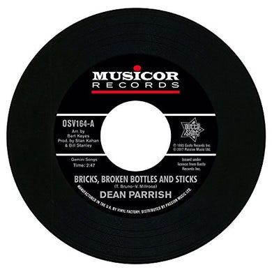 Dean Parish / J.B. Troy BRICKS BROKEN BOTTLES & STICKS / LIVE ON Vinyl Record