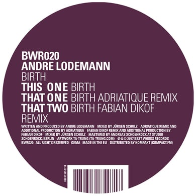 Andre Lodemann BIRTH Vinyl Record