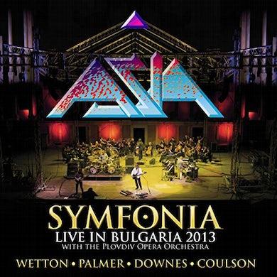 Asia SYMFONIA - LIVE IN BULGARIA 2013 (COLORED VINYL) Vinyl Record