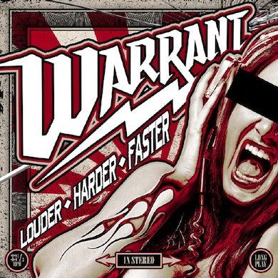 Warrant  LOUDER HARDER FASTER (RED VINYL) Vinyl Record