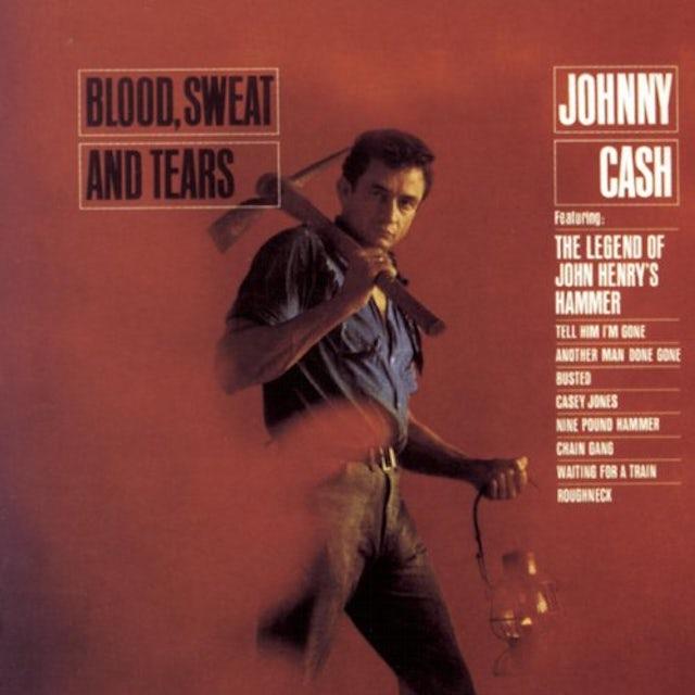 Johnny Cash BLOOD SWEAT & TEARS + 3 BONUS TRACKS Vinyl Record