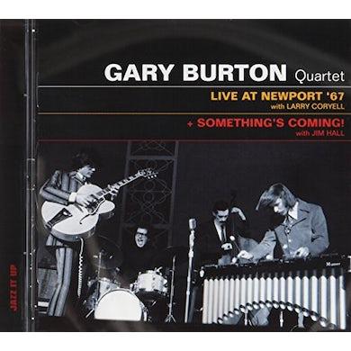 Gary Burton LIVE AT NEWPORT 67 / SOMETHING'S COMING CD