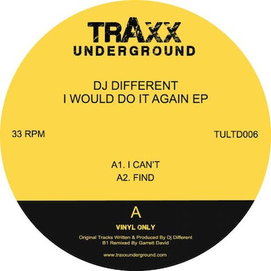 Dj Different WOULD DO IT AGAIN Vinyl Record