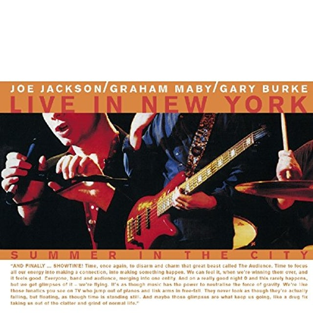 Joe Jackson SUMMER IN THE CITY / LIVE CD