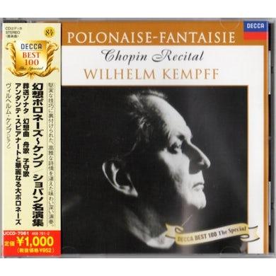 Wilhelm Kempff CHOPIN RECITAL: POLONAISE - FANTAISIE CD