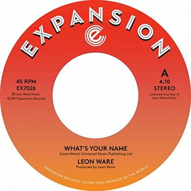 Leon Ware WHAT'S YOUR NAME / INSIDE YOUR LOVE Vinyl Record
