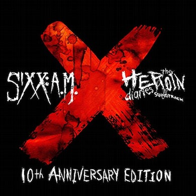 Sixx:A.M. HEROIN DIARIES SOUNDTRACK: 10TH ANNIVERSARY - Limited Edition 180 Gram Red & Black Marbled Double Vinyl Record