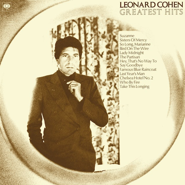 Leonard Cohen GREATEST HITS Vinyl Record