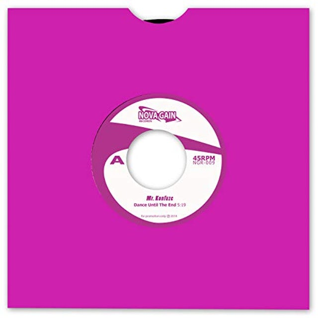 Mr Konfuze DANCE UNTIL THE END Vinyl Record
