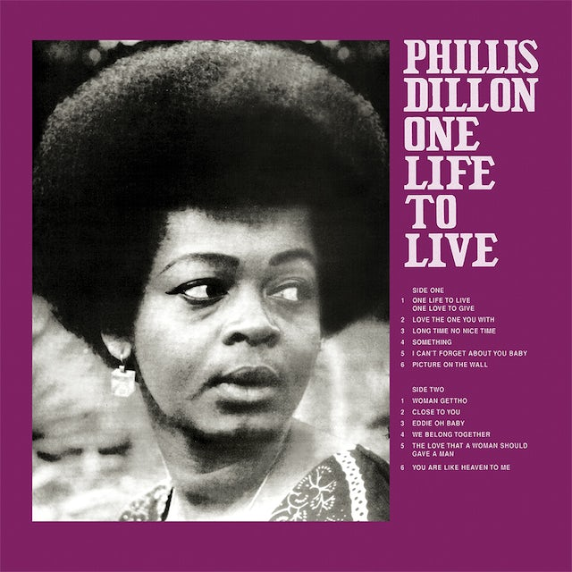 Phyllis Dillon ONE LIFE TO LIVE Vinyl Record