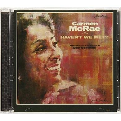 Carmen McRae HAVEN'T WE MET CD