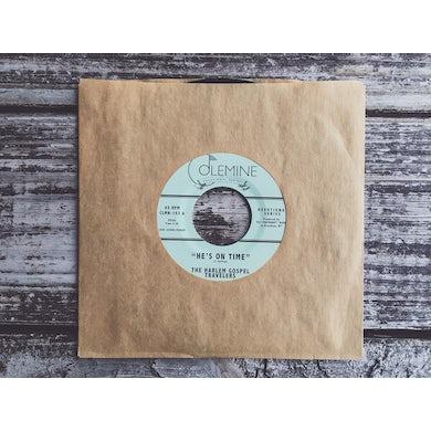Harlem Gospel Travelers HE'S ON TIME / WASH ME LORD Vinyl Record