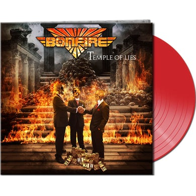 Bonfire TEMPLE OF LIES - Limited Edition 180 Gram Red Colored Vinyl Record