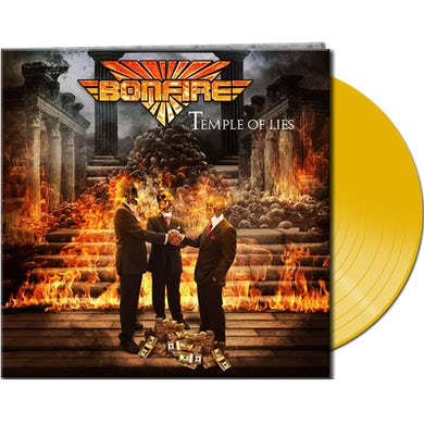 Bonfire TEMPLE OF LIES - Limited Edition 180 Gram Yellow Colored Vinyl Record