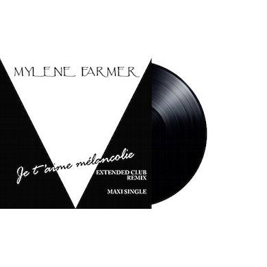 Mylène Farmer JE T'AIME MELANCOLIE Vinyl Record