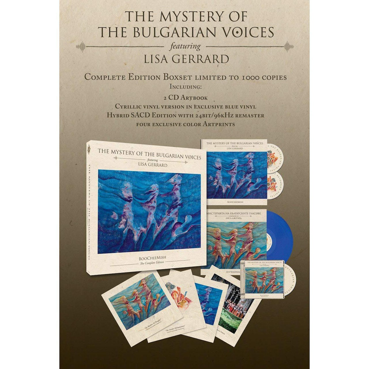 Mystery Of The Bulgarian Voices Feat  Lisa Gerrard BOOCHEEMISH (LIMITED  EDITION WITH SACD & BOOK) Vinyl Record