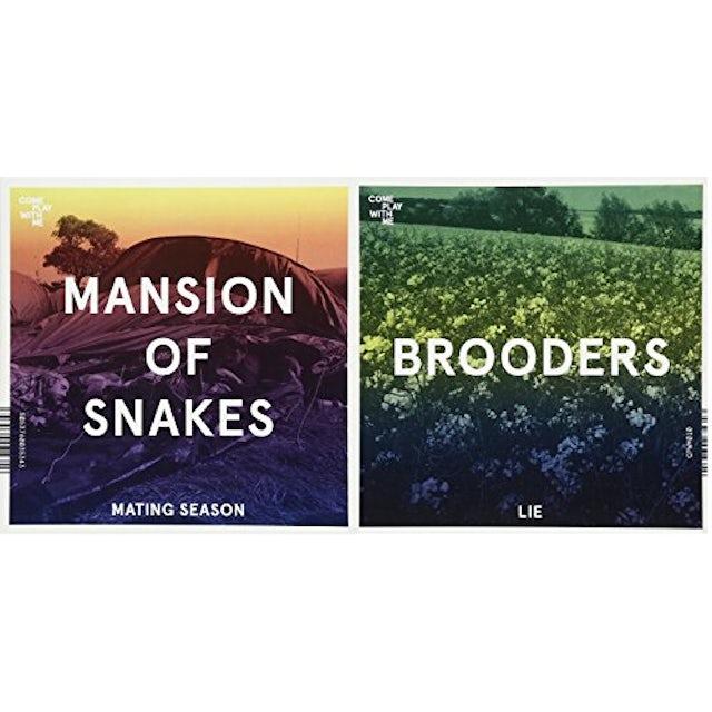 Mansion Of Snakes / Brooders SPLIT SINGLE Vinyl Record