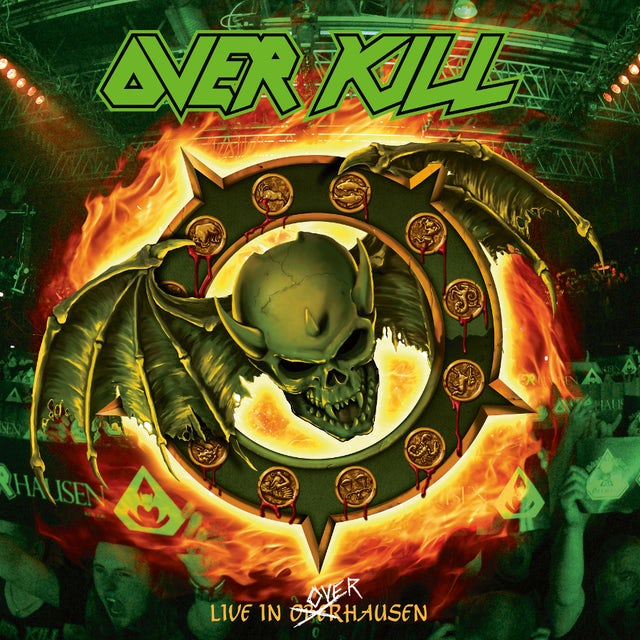 Overkill HORRORSCOPE (LIVE IN OVERHAUSEN) - Limited Edition Green w/ Orange & Yellow Splatter Colored Double Vinyl Record