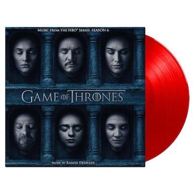 RAMIN DJAWADI GAME OF THRONES: SEASON 6 / Original Soundtrack - Limited Edition 180 Gram Red Colored Double Vinyl Record