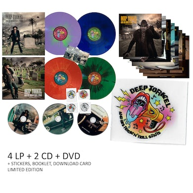 Deep Torkel & His Rock N Roll Stars I LOVE DEAD PEOPLE - First Edition Numbered Deluxe Multi-Colored Vinyl Collection