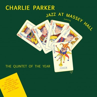 Charlie Parker JAZZ AT MASSEY HALL Vinyl Record - Colored Vinyl, Limited Edition, 180 Gram Pressing, Yellow Vinyl, Spain Release