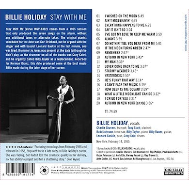 Billie Holiday STAY WITH ME CD