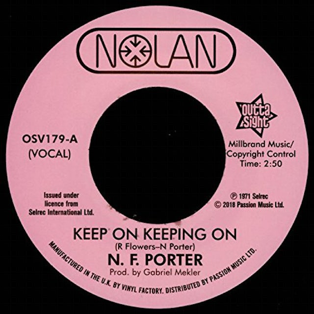 Nolan Porter KEEP ON KEEPING ON / IF I COULD ONLY BE SURE Vinyl Record