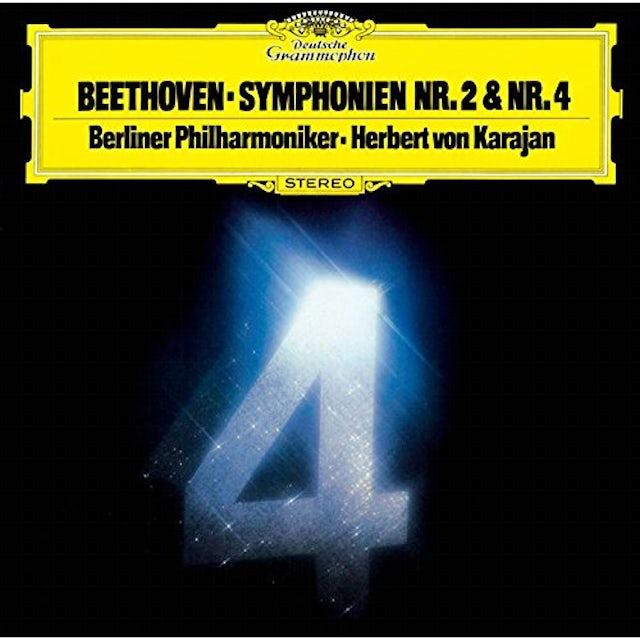Beethoven / Herbert Von Karajan BEETHOVEN: SYMPHONIES 2 & 4 CD