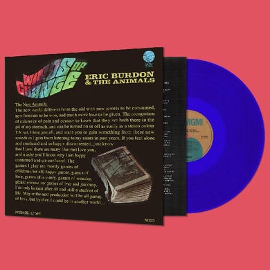 Eric Burdon / The Animals WINDS OF CHANGE - Limited Edition Blue Colored Vinyl Record