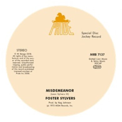 MISDEMEANOR / WHEN I'M NEAR YOU Vinyl Record