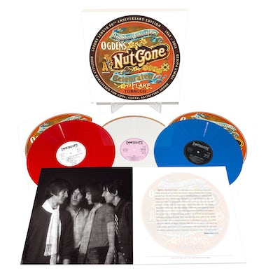 Small Faces OGDENS NUTGONE FLAKE - Red, White & Blue Triple Vinyl Record